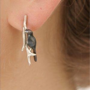 BIRD EARRINGS STERLING SILVER